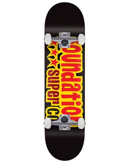 "Foundation 3 Star 8.13"" Complete Skateboard Black"
