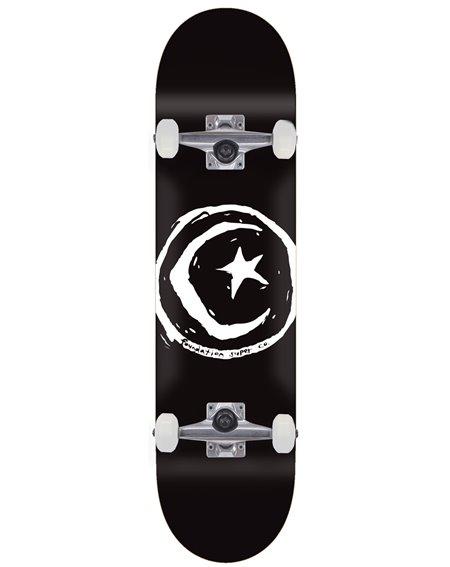 "Foundation Skateboard Completo Star & Moon 8.00"" Black"