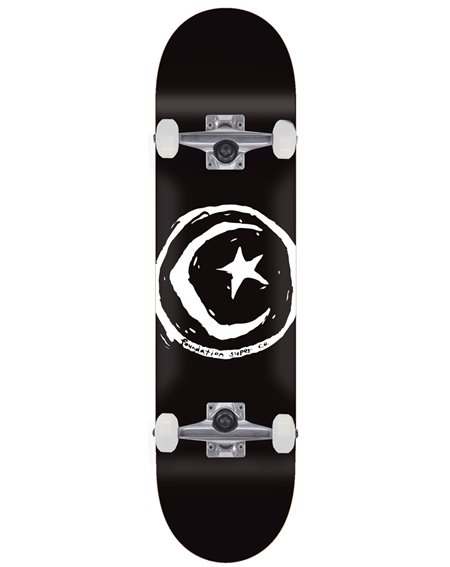 "Foundation Skateboard Complète Star & Moon 8.00"" Black"