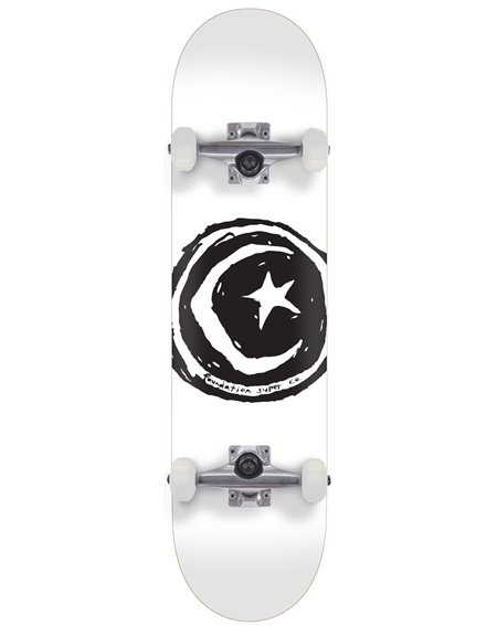 """Foundation Skateboard Complète Star & Moon 7.75"""" White"""