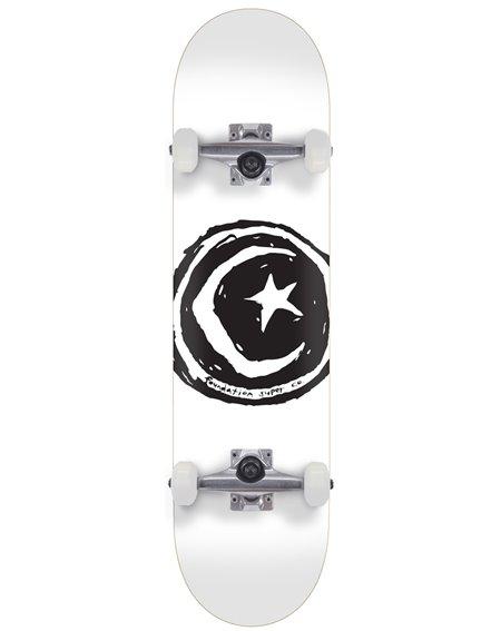 "Foundation Skateboard Star & Moon 7.75"" White"