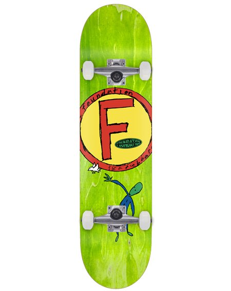 "Foundation Circle F Bird 8.50"" Complete Skateboard"