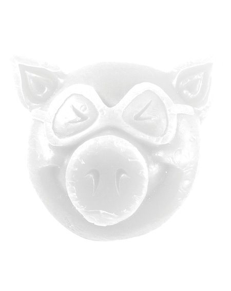 Pig Wheels Cera Skateboard Pig Head White