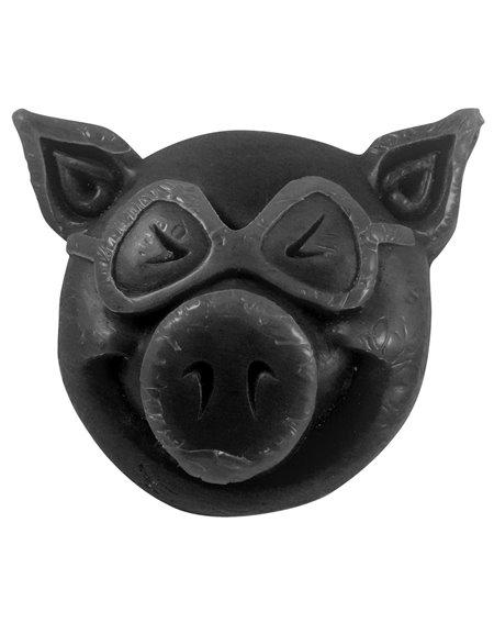 Pig Wheels Pig Head Skateboard Wachs Black