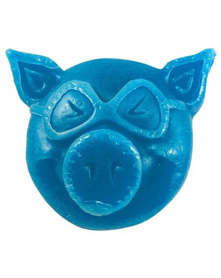 Pig Wheels Pig Head Skateboard Wachs Blue