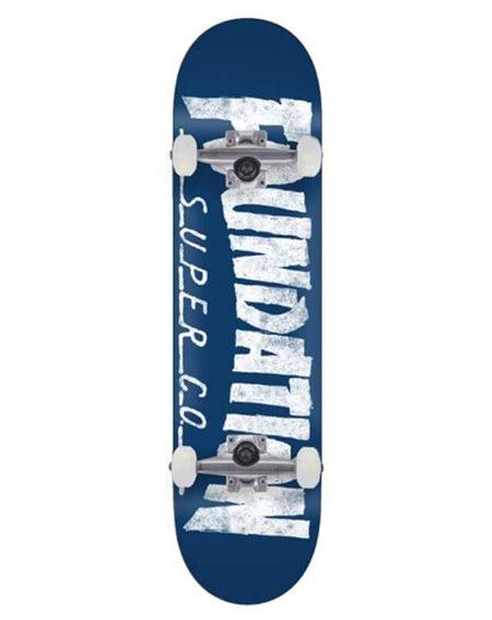 "Foundation F Thrasher 8.00"" Complete Skateboard Blue"