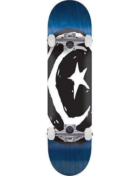 """Foundation Star & Moon Square V2 7.88"""" Complete Skateboard Blue"""
