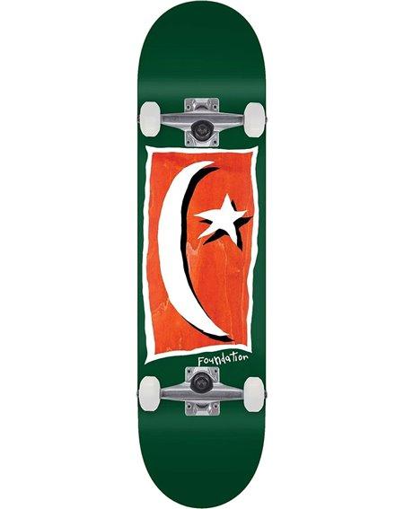 "Foundation Star & Moon Square V2 8.13"" Complete Skateboard Green"