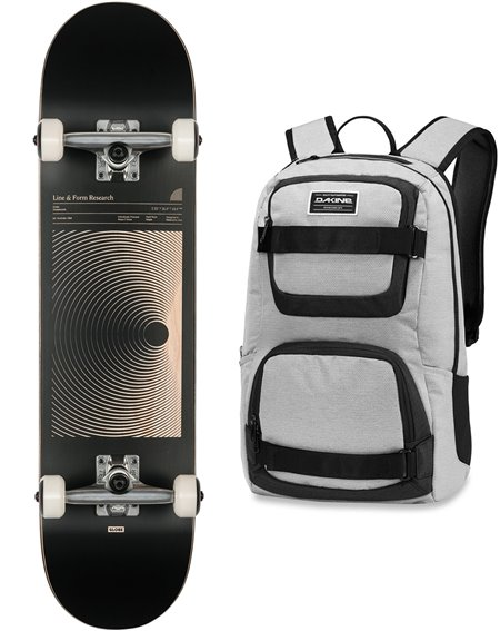 "Globe Skateboard con Zaino G1 Lineform 7.75"" Black"
