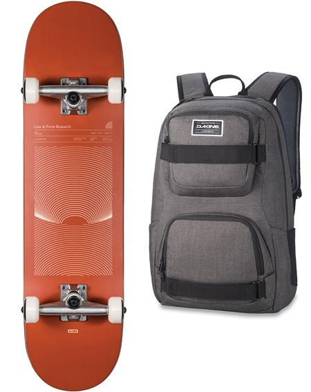 "Globe G1 Lineform 8.25"" Skateboard with Backpack Cinnamon"