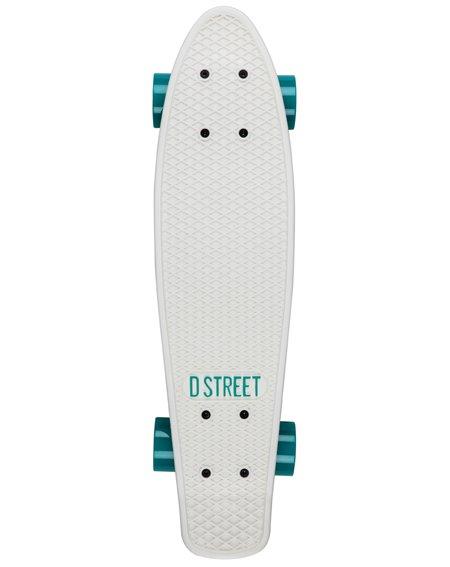 D-Street Poly Prop Skateboard Cruiser White/Mint
