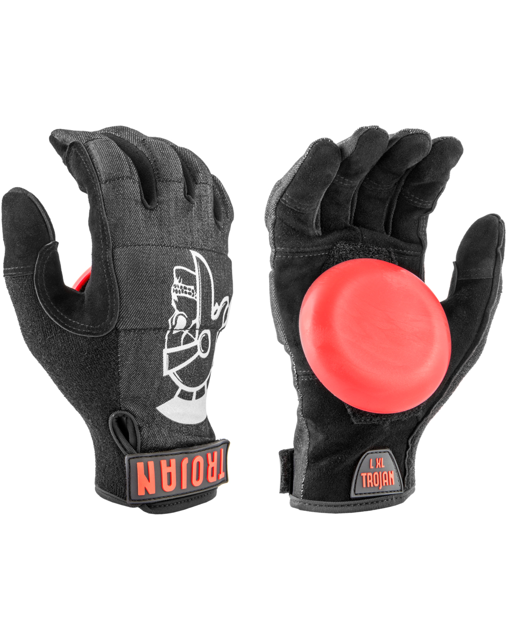 Madrid Trojan Denim Disaster Slide Gloves Black