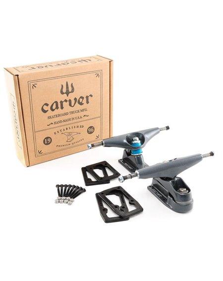 Carver Ejes Skateboard C7 Truck Set Graphite