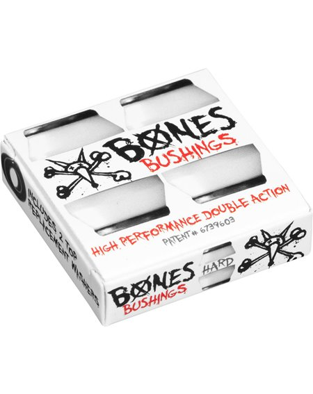 Bones Wheels Hardcore Hard Skateboard Bushings White