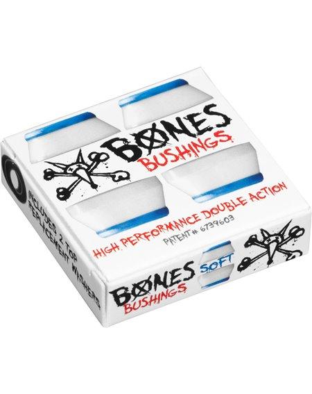 Bones Wheels Gommes Skateboard Hardcore Soft White