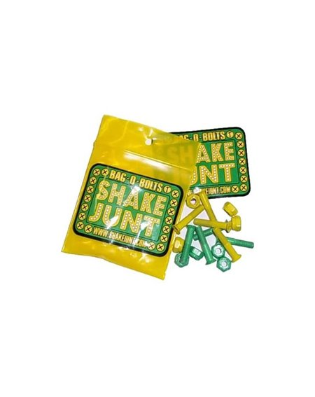 Shake Junt Bag o' Bolts Allen Skateboard Hardware Set Green/Yellow