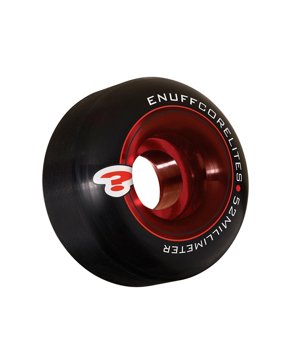 Enuff Rodas Skate Corelites 52mm Black/Red 4 peças
