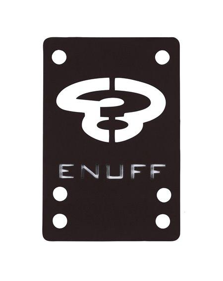 Enuff Shock 1mm Skateboard Baseplates Black 2 er Pack