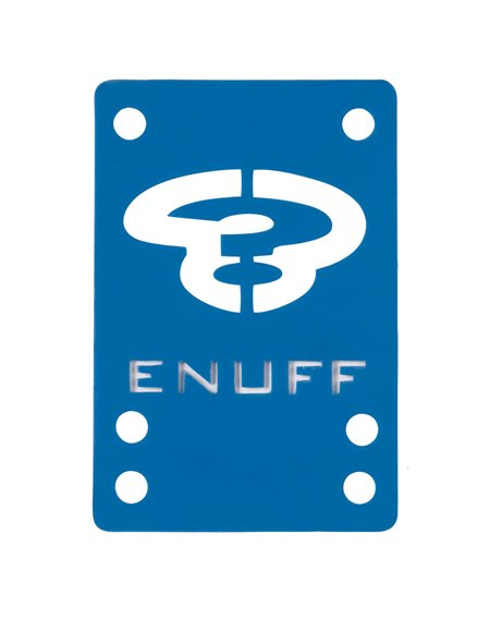 Enuff Shock 1mm Skateboard Baseplates Blue 2 er Pack