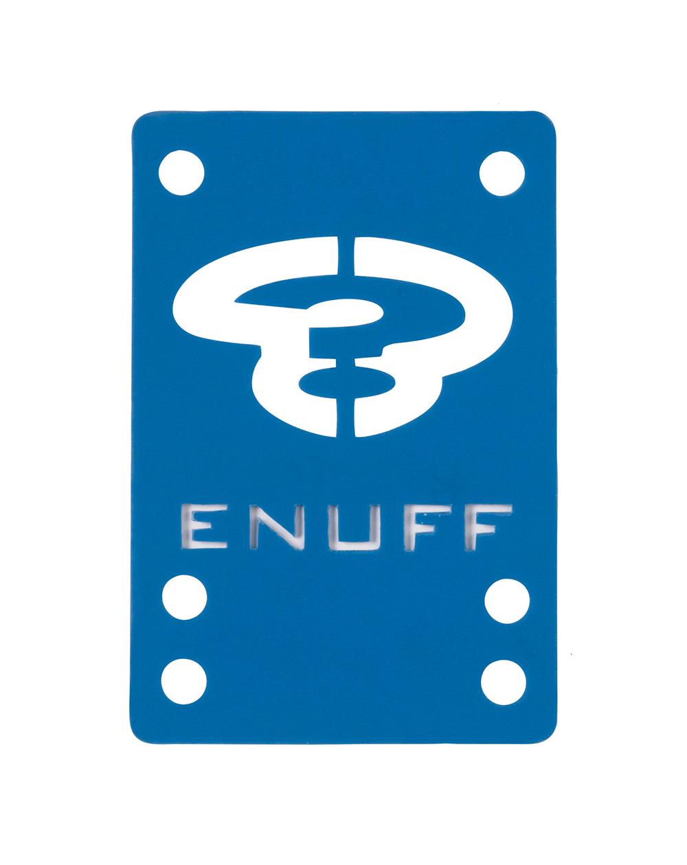 Enuff Shock 1mm Skateboard Baseplates Blue 2 er Pack