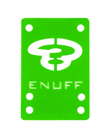 Enuff Shock 1mm Skateboard Baseplates Green 2 er Pack