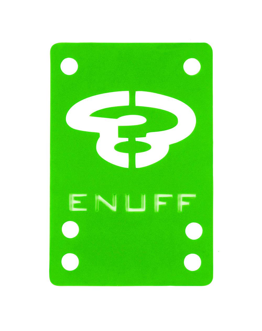 Enuff Shock 1mm Skateboard Baseplates Green 2 er Pack