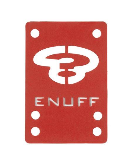 Enuff Pads Skateboard Shock 1mm Red 2 pc