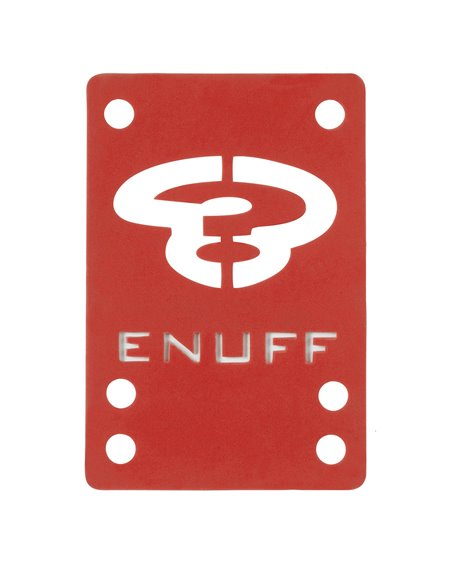 Enuff Shock 1mm Skateboard Baseplates Red 2 er Pack