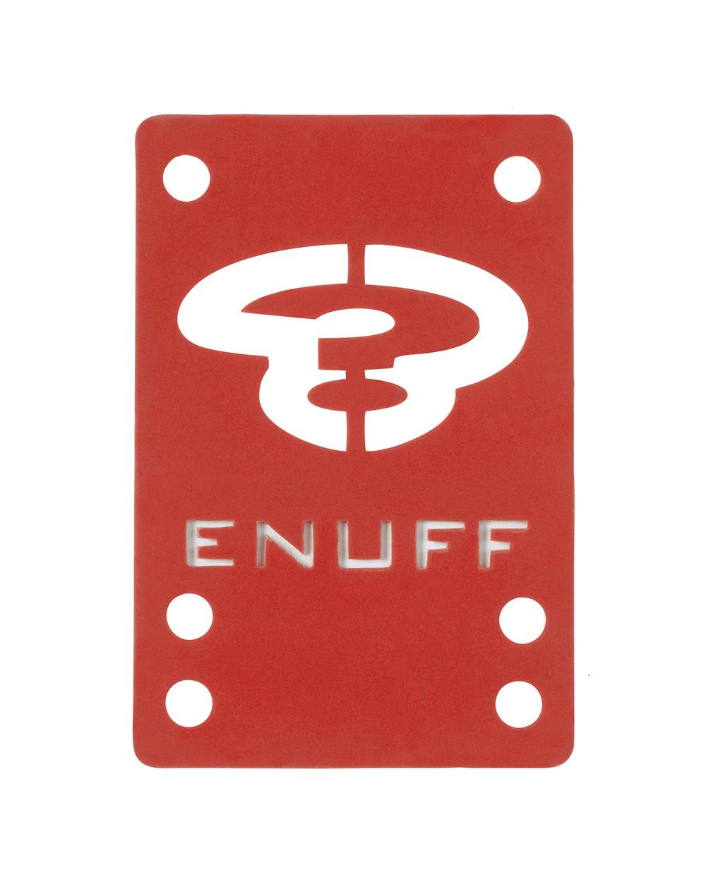 Enuff Shock 1mm Skateboard Baseplates Red 2 er Pack