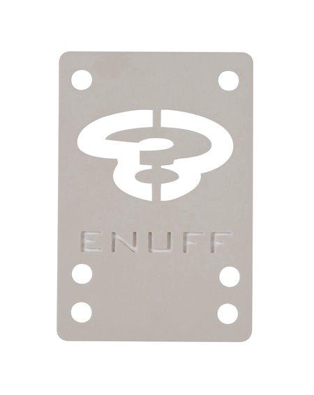 Enuff Shock 1mm Skateboard Baseplates White 2 er Pack