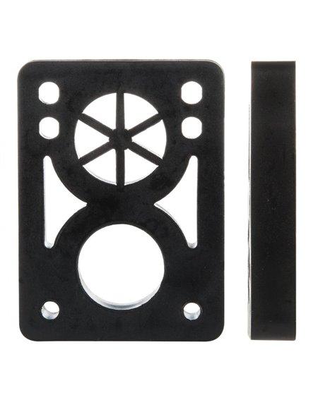 D-Street Pads Skate Soft 1/2-inch Black 2 peças