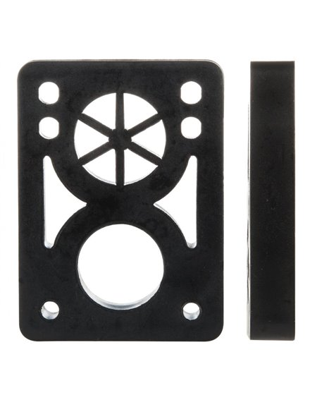 D-Street Soft 1/2-inch Skateboard Baseplates Black 2 er Pack