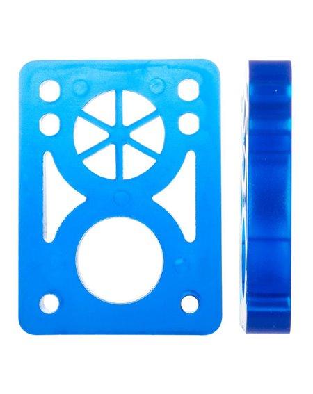 D-Street Soft 1/2-inch Skateboard Baseplates Clear Blue 2 er Pack