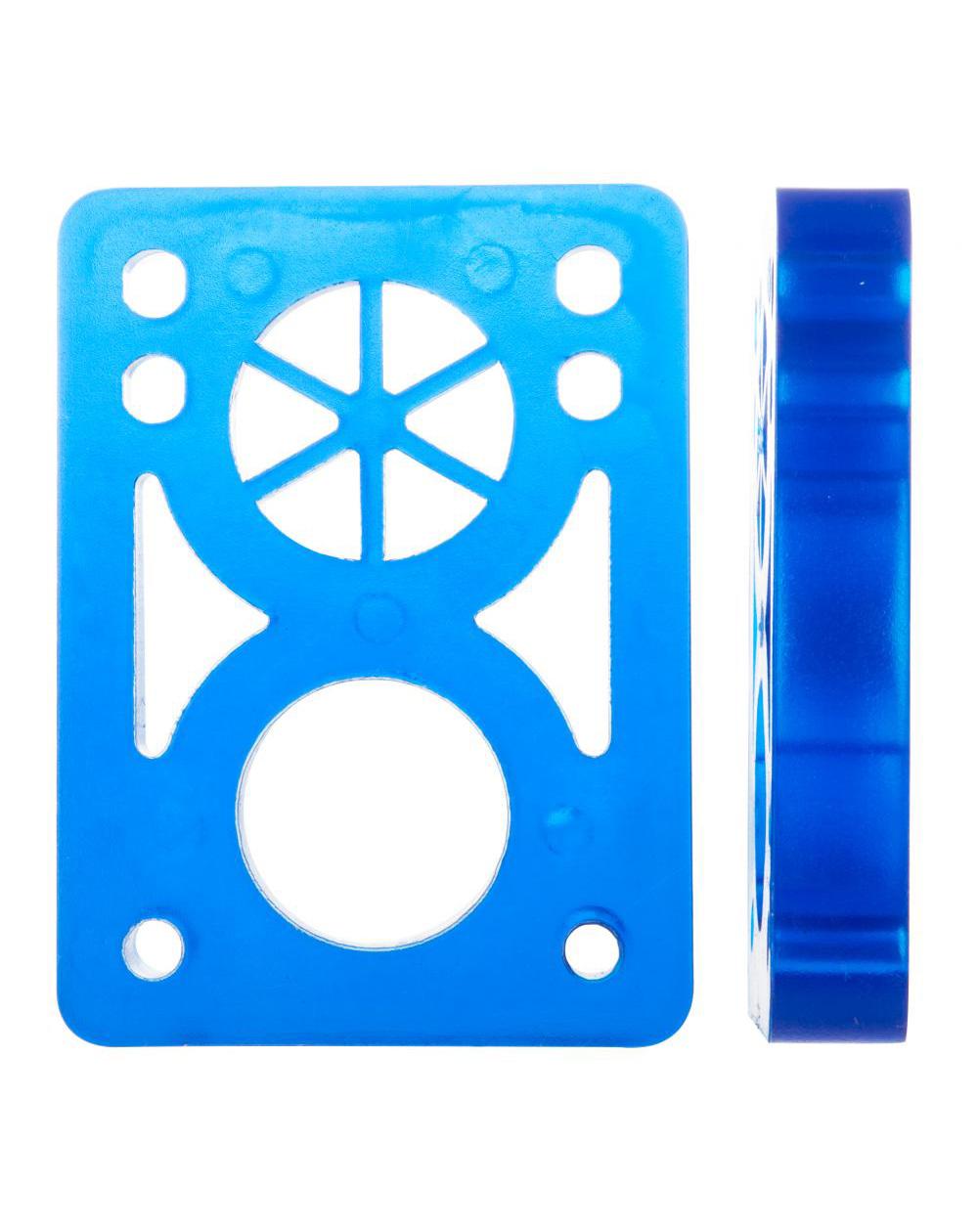 D-Street Pads Skateboard Soft 1/2-inch Clear Blue 2 pc