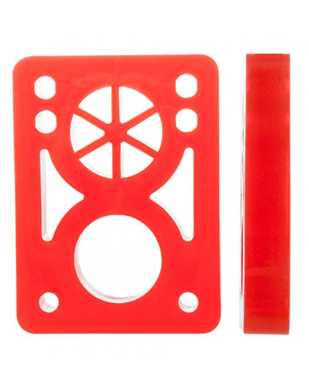 D-Street Pads Skate Soft 1/2-inch Clear Red 2 peças