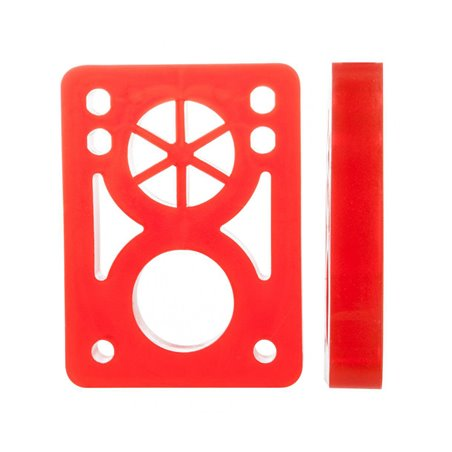 D-Street Soft 1/2-inch Risers Clear Red pack of 2