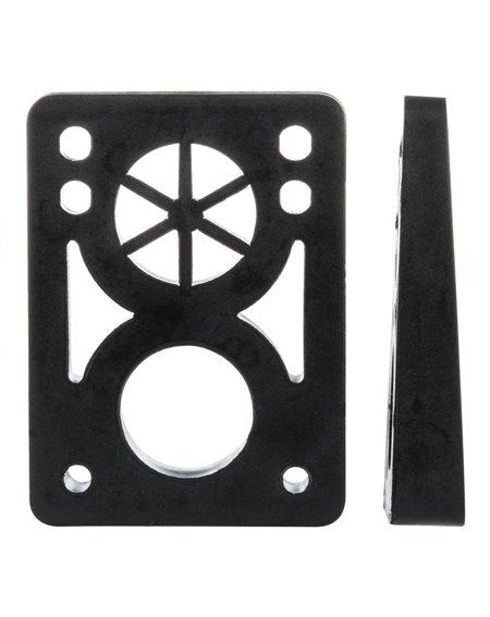 D-Street Elevadores Skateboard Soft Wedge 8 to 14 mm Black 2 piezas