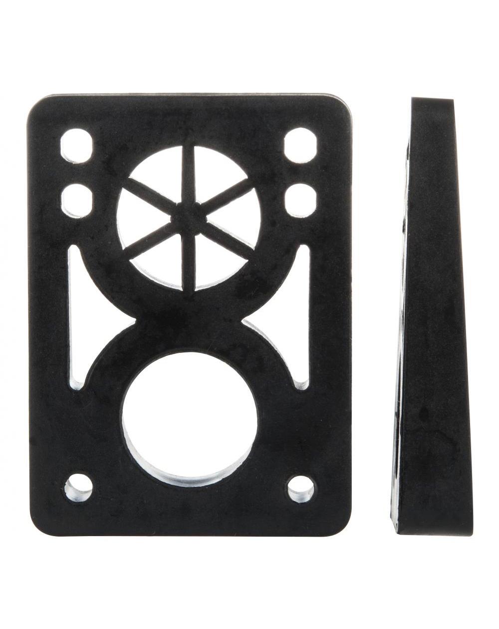D-Street Soft Wedge 8 to 14 mm Skateboard Baseplates Black 2 er Pack