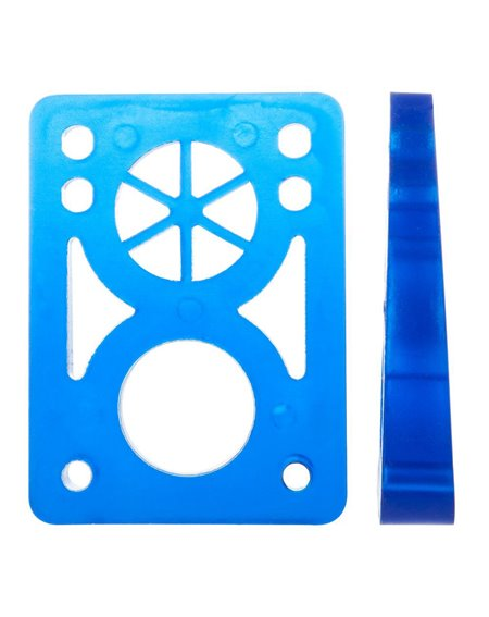 D-Street Soft Wedge 8 to 14 mm Skateboard Baseplates Clear Blue 2 er Pack