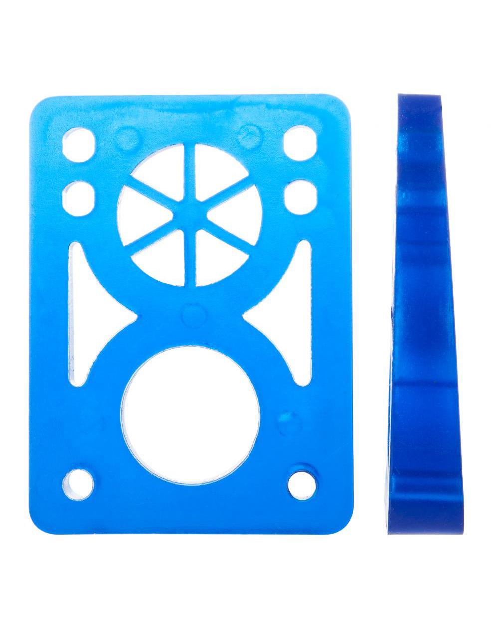 D-Street Soft Wedge 8 to 14 mm Skateboard Baseplates Clear Blue 2 er Pack