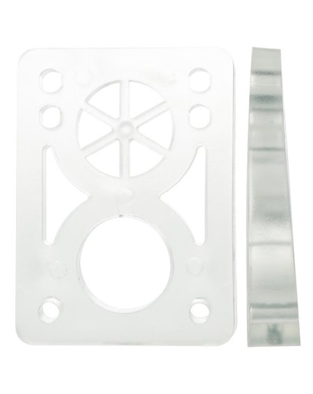 D-Street Soft Wedge 8 to 14 mm Skateboard Baseplates Clear 2 er Pack