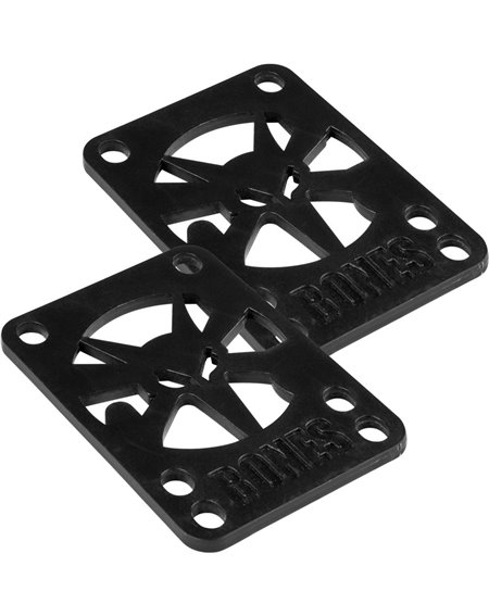 Bones Wheels 1/8-inch Skateboard Baseplates Black 2 er Pack