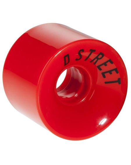 D-Street Ruedas Longboard 59 Cents Red 4 piezas