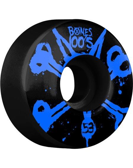 Bones Wheels 100's 53mm Skateboard Wheels Black pack of 4