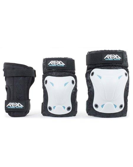 Rekd Protection Set Protezioni Skateboard Recreational White