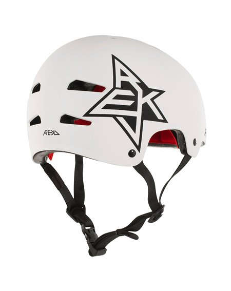 Rekd Protection Elite Icon Skateboard Helmet White/Black