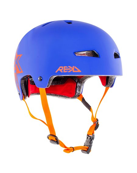 Rekd Protection Elite Icon Skateboard Helmet Blue/Orange