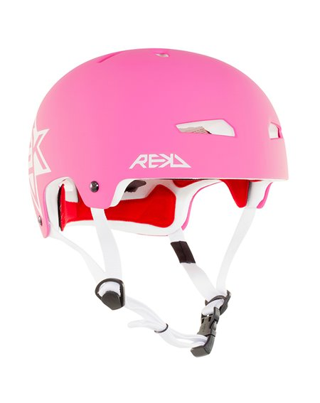 Rekd Protection Casque Skateboard Elite Icon Pink/White