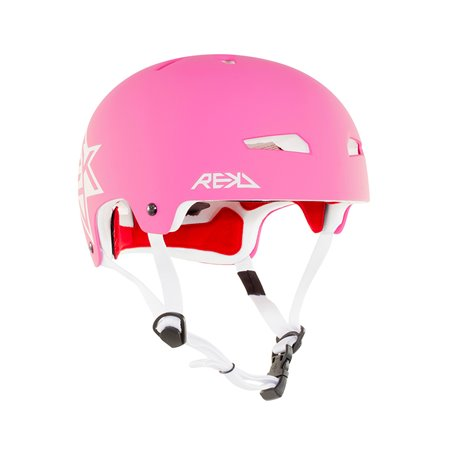 Rekd Protection Elite Icon Skateboard Helmet Pink/White