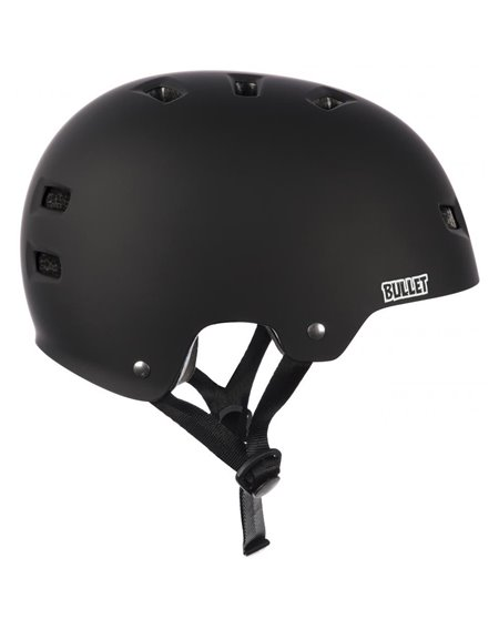 Bullet Deluxe Junior Skateboard Helmet Black